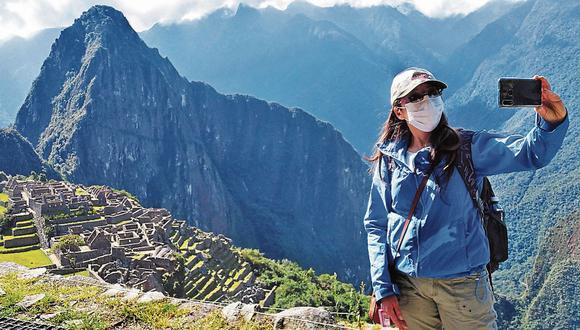 Turista en Machu Pichu