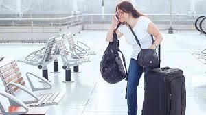 Pasajero en problemas en el aeropuerto